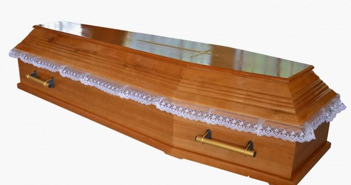 Trumna sarkofag frezowany