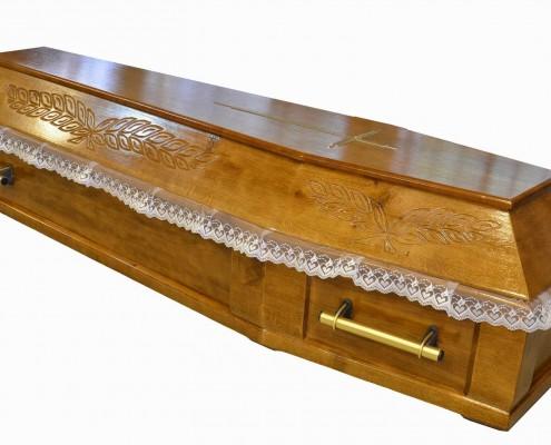 Trumna sarkofag rzeźbiony nowy